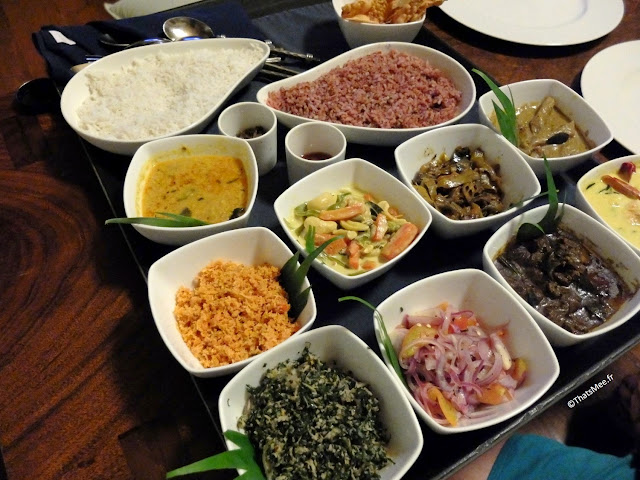 Riz curry Sri-Lanka room-service Vil Uyana Jetwing