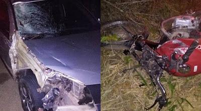 Motociclista morre após bater em carro na BR-110 em Catu