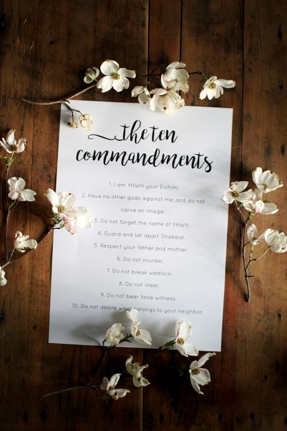 Free Ten Commandments Printable