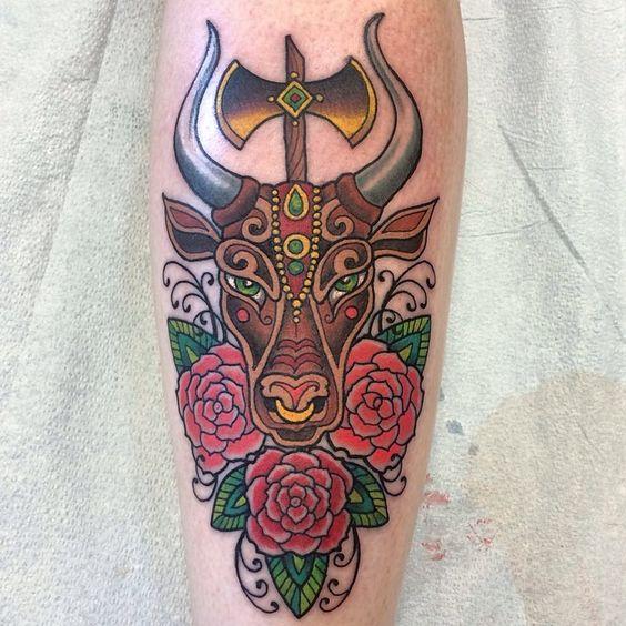 tatuagens de touro para as meninas