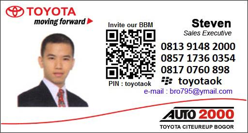 Harga Mobil 2016 Rekomendasi Sales TOYOTA CITEUREUP BOGOR | Jawa Barat