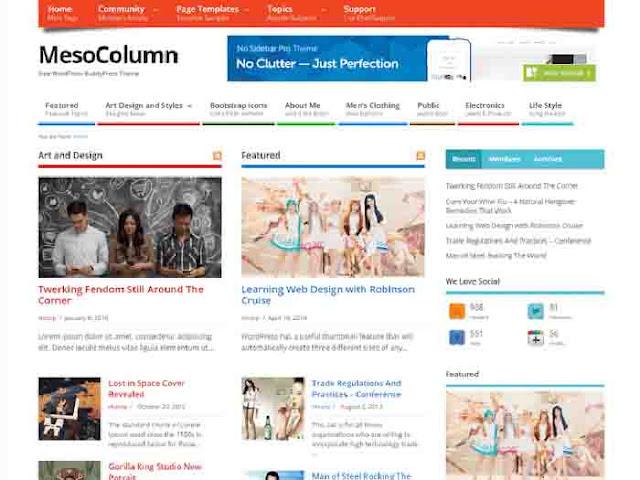 Mesocolumn Free Premium Looking WordPress Theme