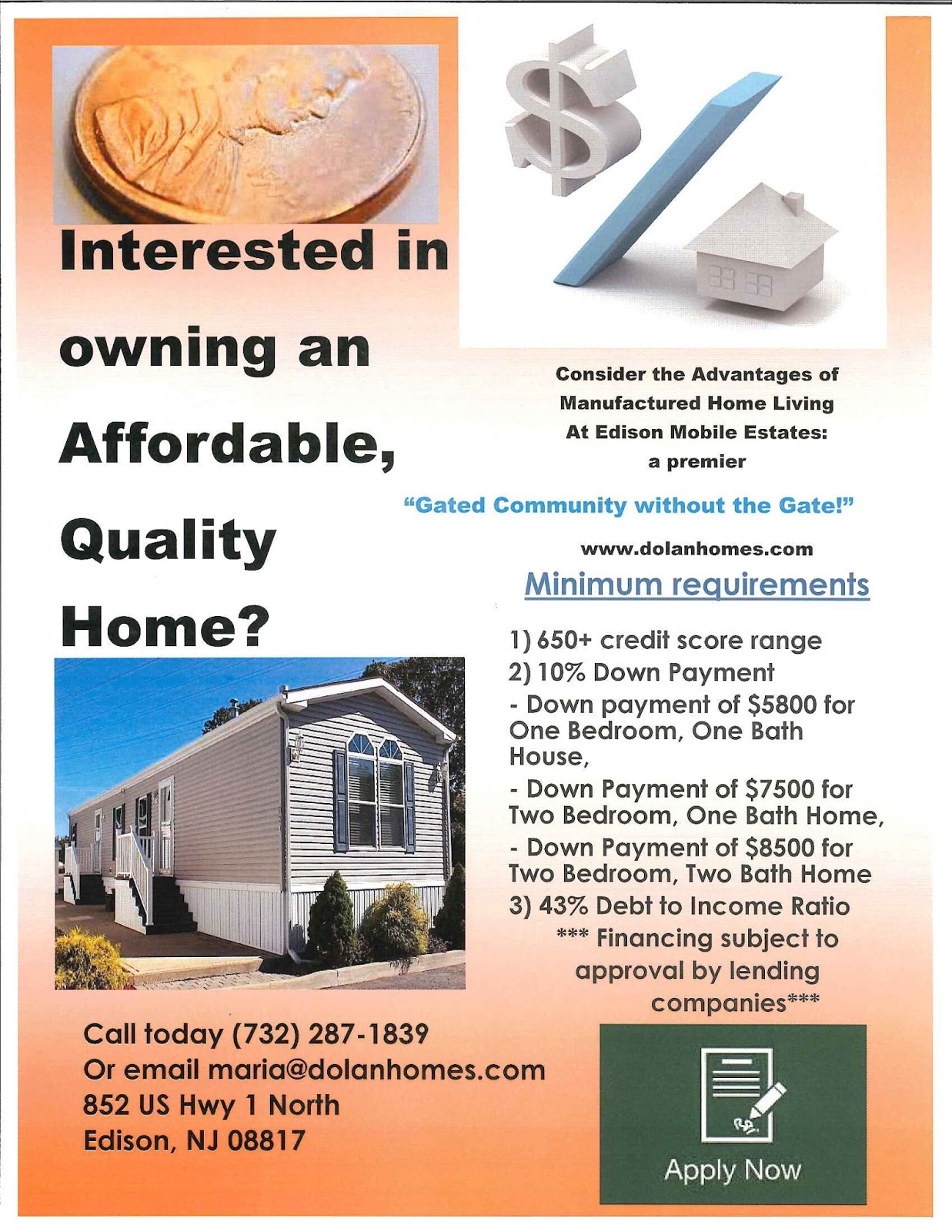 Dolan Homes: your premiere New Jersey Manufactured housing