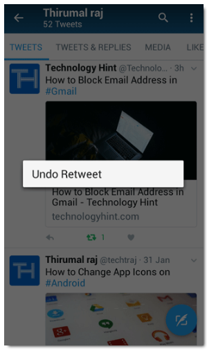 How to Delete a Retweet on Twitter