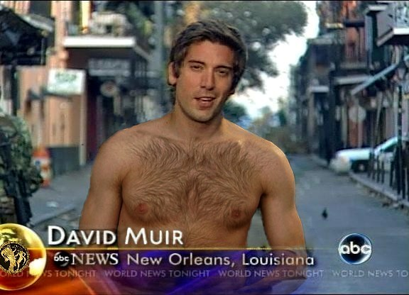 David Muir's alleged shirtless Pictures, Source: fake fur