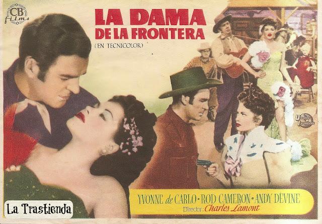 Programa de Cine - La Dama de la Frontera (Horizontal) - Yvonne de Carlo - Rod Cameron