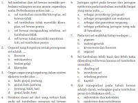Soal IPA Biologi SMP Kelas 7 Bab Sistem Organisasi Kehidupan Semester 2