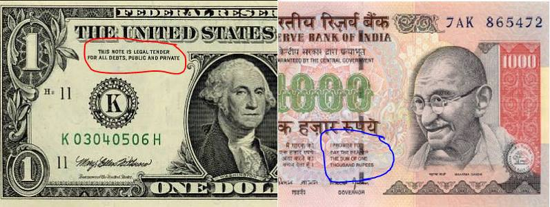 Dollar Usd Versus Indian Ru Inr