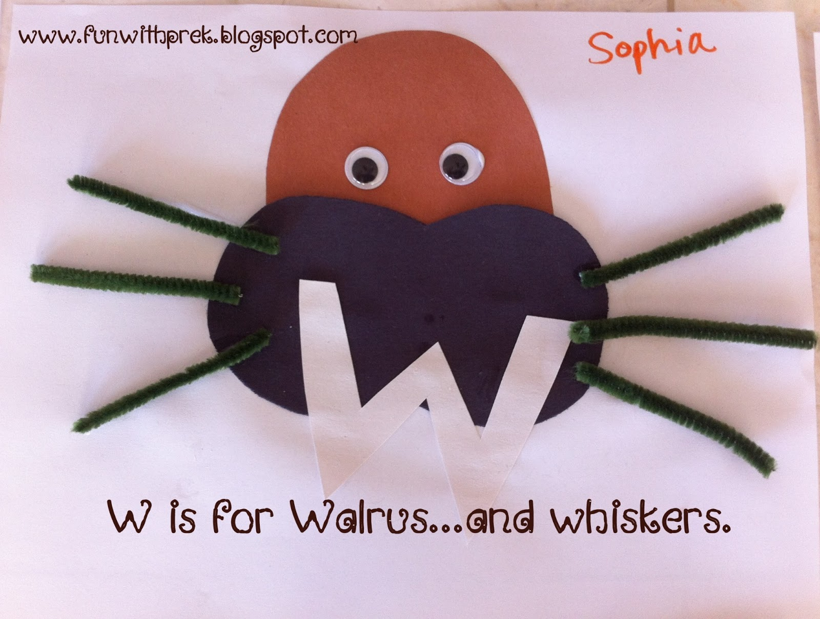 Lil Miss Smartypants W Is For Walrus Whiskers And