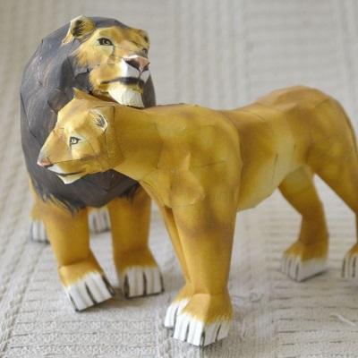 Papercraft Lions