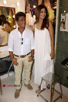 Bollywood Actress Shilpa Shetty Pos in White Gown at The Inauguration Of Shelar Make up Academy  0012.jpg
