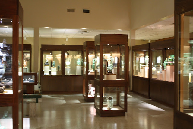 Displays of art pieces art  at Lizzadro Museum of Lapidary Art in Elmhurst, IL