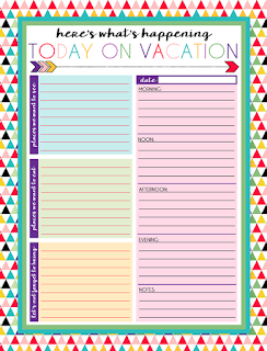 Free Printable Daily and Weekly Vacation Calendars | Six Designs | Instant Downloads