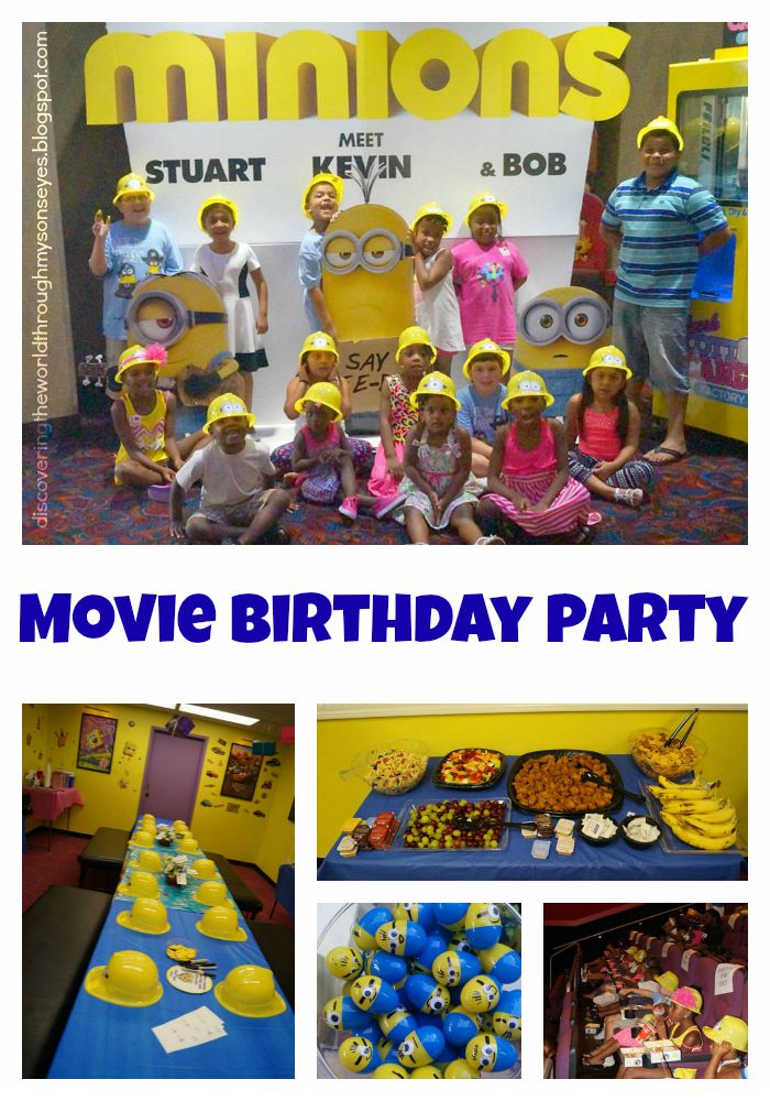 Luckily For Us Minions Was Set To Release A Week Before His Birthday So We Went With Movie Party Reserved The Room At