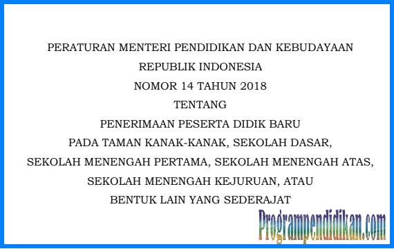 permendikbud nomor 14 tahun 2018