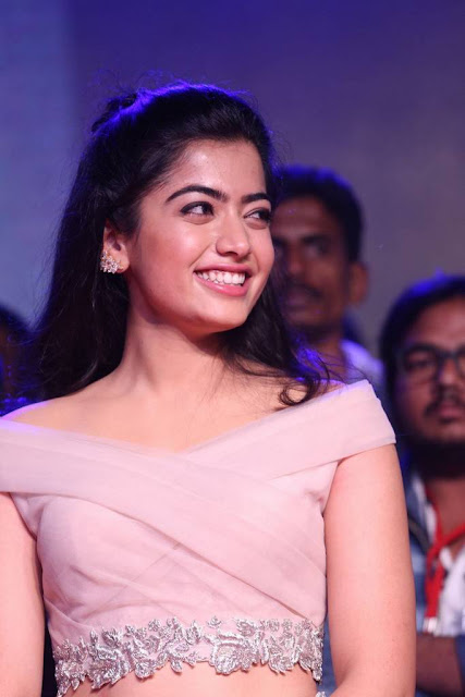 Rashmika Mandanna Stills At Chalo Movie Pre Release Event