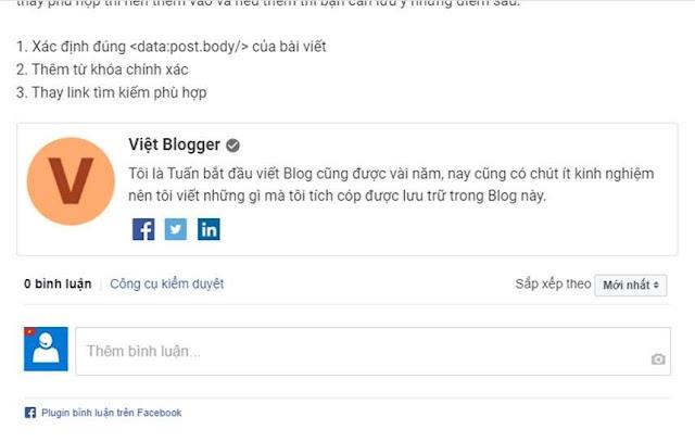 Hướng dẫn thêm phần giới thiệu tác giả trên Google Plus vào bên dưới bài viết