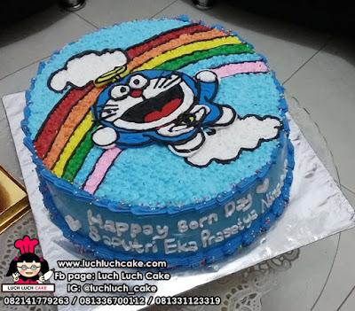 Kue Tart Doraemon Pelangi