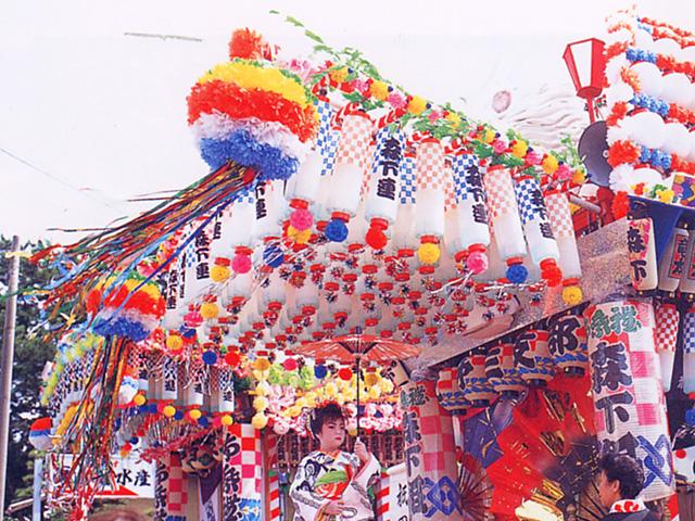 Summer Festival at Yahatatsushima Kawajiri Shrine, Yoshida Town, Shizuoka