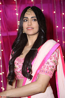 Adaa Sharma in White Pink Saree at Zee Telugu Apsara Awards 2017 20.JPG