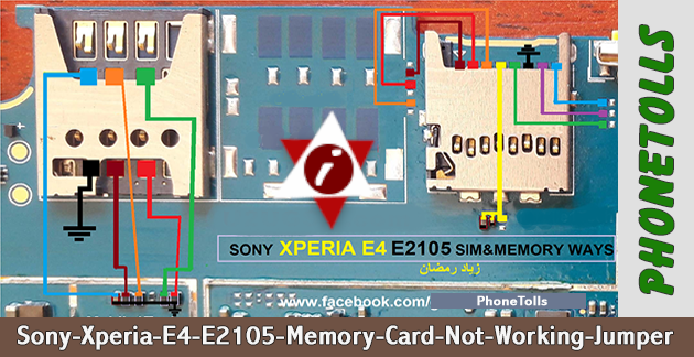 Sony Xperia E-4 E-2105 Memory Card Not Working Jumper - Phonetolls