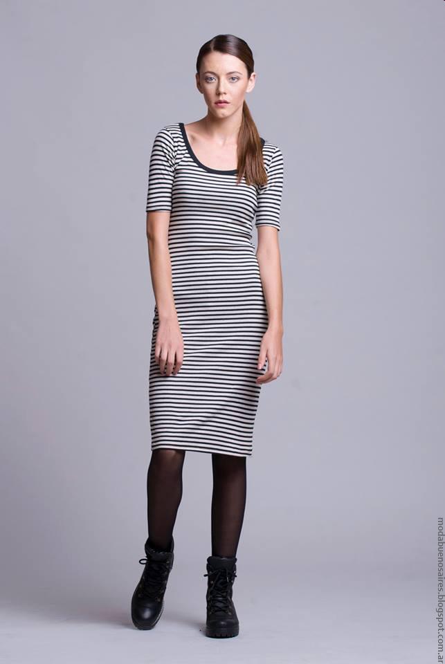 Vestidos invierno 2016 ropa de mujer Dominga Dominó. Moda invierno 2016.