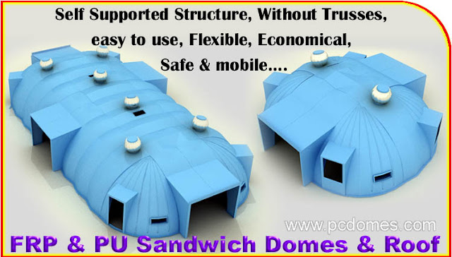 Frp Puf Sandwich Domes House Insulated Domes Sheds
