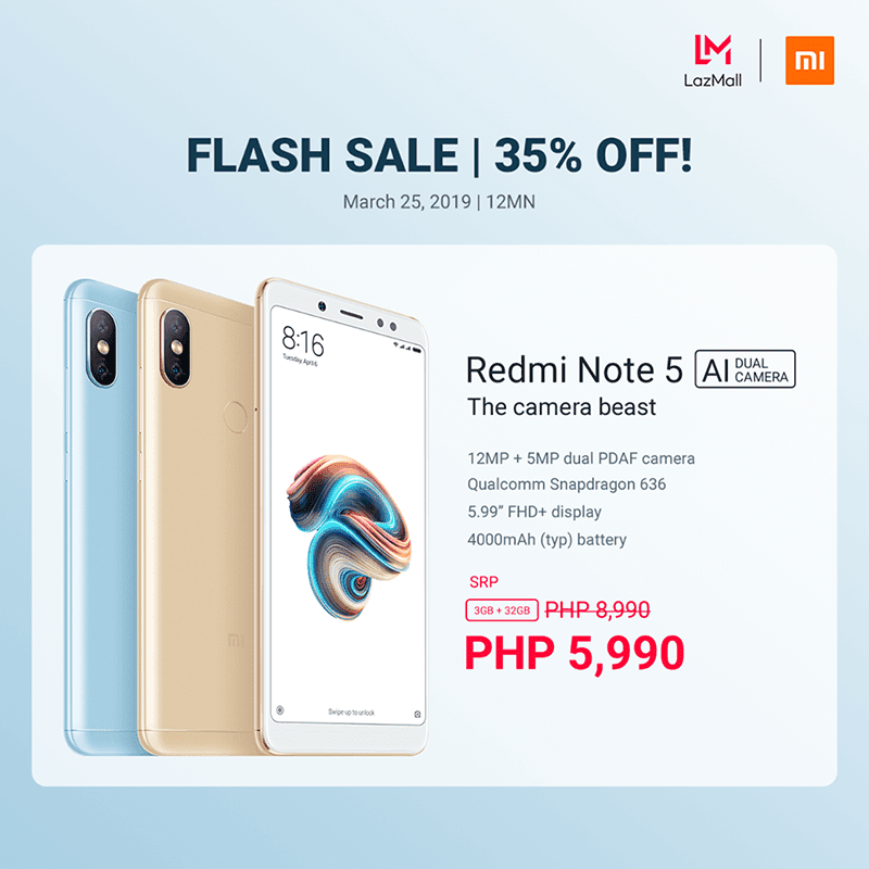 Sale Alert: Xiaomi Redmi Note 5 3GB/32GB is down to PHP 5,990 for limited time