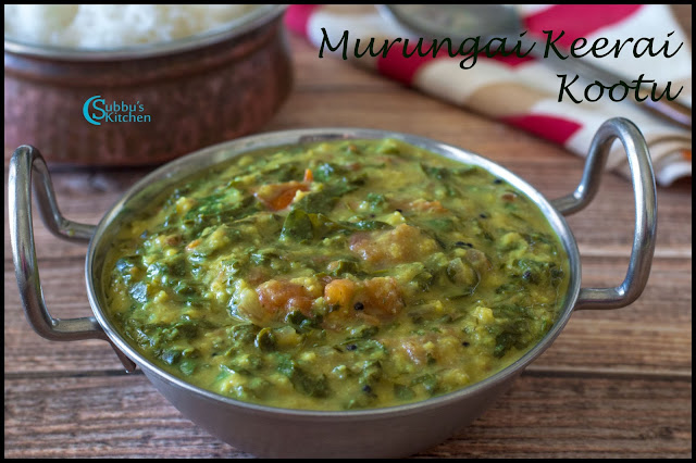 Drumstick Leaves Stew Recipe | Murungai Keerai Kootu Recipe