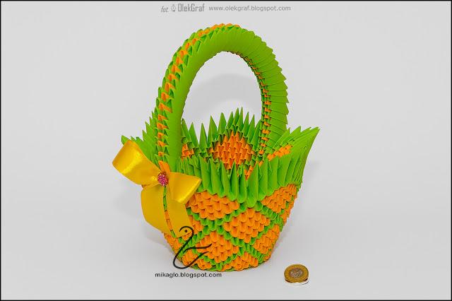 381. Spiralny koszyczek / 3d origami Easter spiral basket