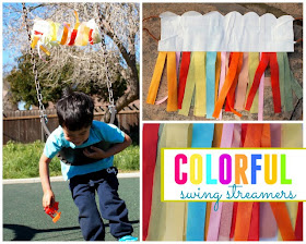 how to make colorful swing streamers with kids