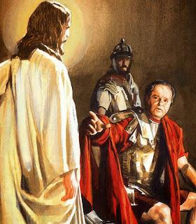 Resultado de imagen para Jesús ante Pilato.