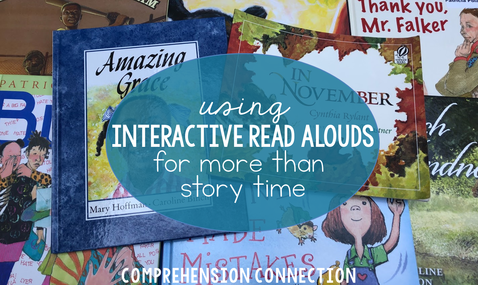 Using interactive read alouds for more than story time is very beneficial to students. In this post, ideas are shared on how students benefit with examples.