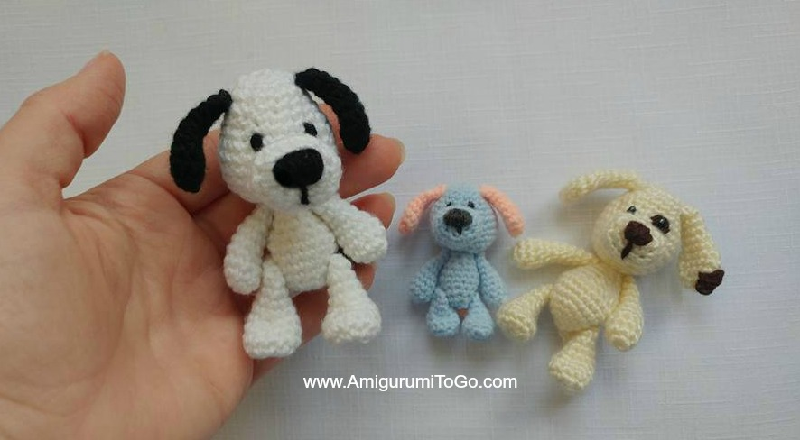 Miniature Puppy Amigurumi To Go