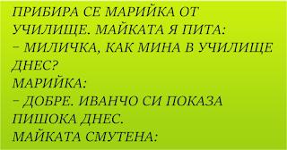 Мръсни вицове ~ Прибира се Марийка от училище