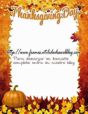 Bonito marco para fotos del Día de Acción de Gracias