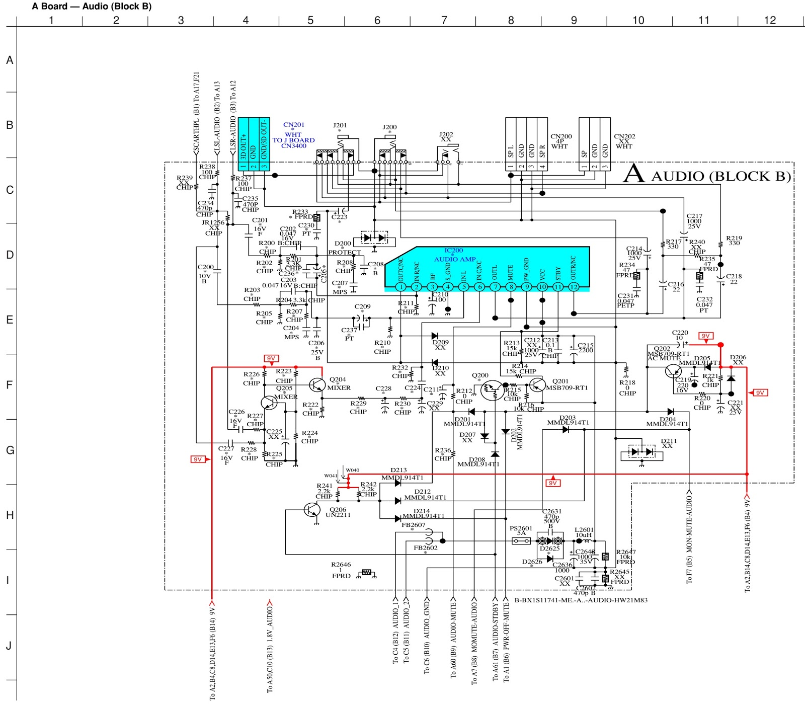 sony tv circuit diagram