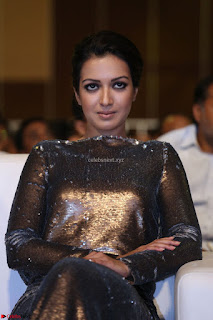 Actress Catherine Tresa in Golden Skin Tight Backless Gown at Gautam Nanda music launchi ~ Exclusive Celebrities Galleries 007.JPG