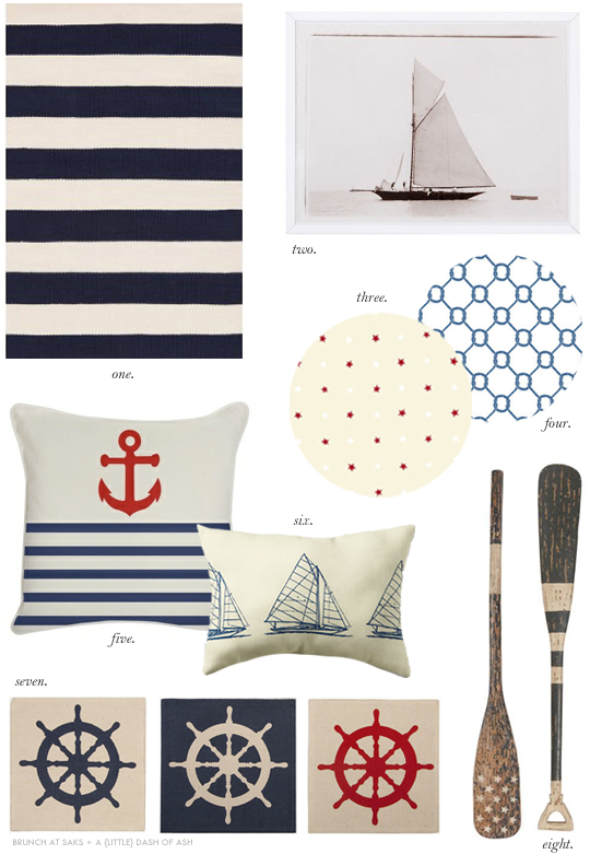nautical themed home decor accessories