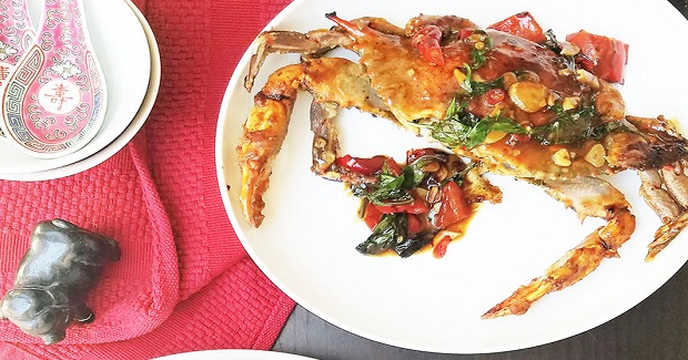 Chili Garlic Basil Fried Crab Recipe