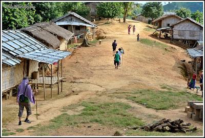 Passing Para Village, Jadipai Water Fall, Keokradong, Bandarban, Bangladesh