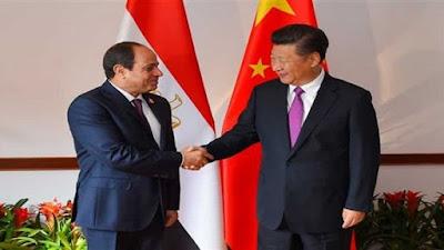 السيسي ورئيس الصين - ارشيفية