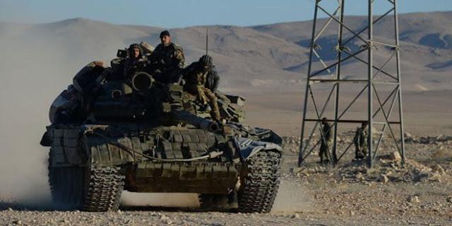 شاهد بالفيديو الجيش السوري يتجه إلى درعا في أضخم رتل عسكري.