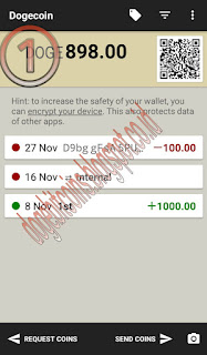 Dompet Dogecoin Android setup langkah 1