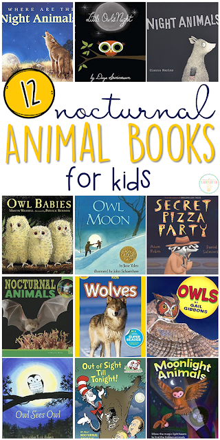 If you are planning a nocturnal animals theme for your classroom or homeschool this fall, you'll definitely want to check out these great nocturnal animal picture books! Lots of great titles and ideas for incorporating comprehension and writing skills too.