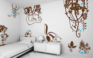 Decoración con vinil para habitaciones de niños.