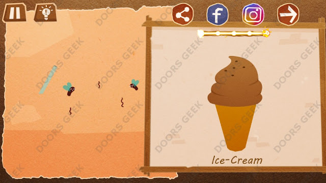 Chigiri: Paper Puzzle Novice Level 6 (Ice-Cream) Solution, Walkthrough, Cheats