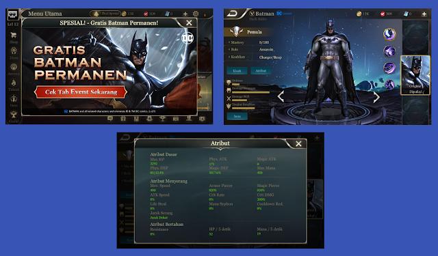 Dapat Hero Gratis Batman Permanen Di Garena AOV – 17 Agustus 2017