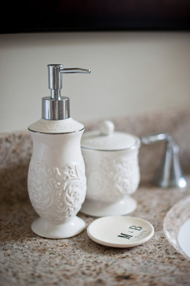 white bathroom accessories
