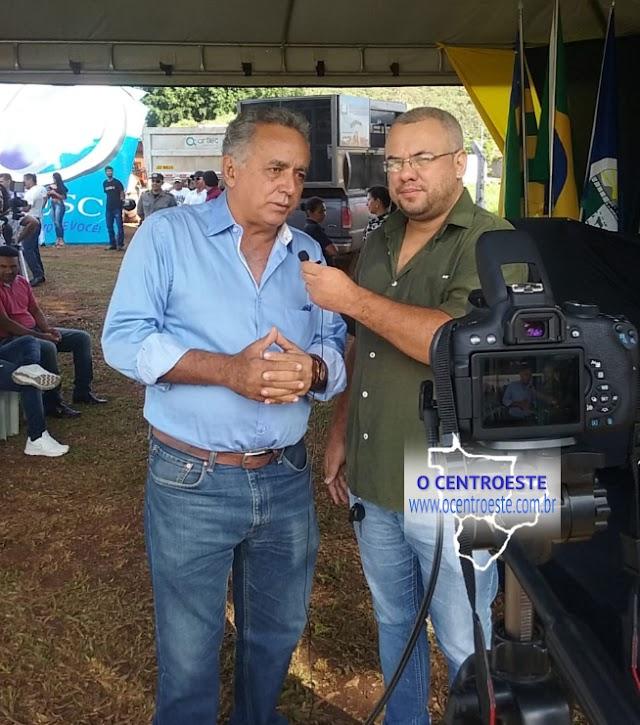 Prefeito Divino Lemes fala das obras do esgoto sanitário de Senador Canedo